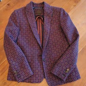 J.Crew Collection Printed Tweed Blazer sz 4 2013